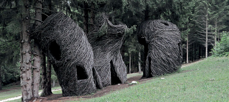 Il legno ritorna nel bosco... ed è subito arte! - Perini Journal
